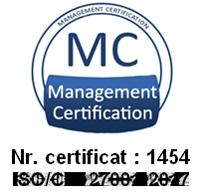 MediCentrum Certificat ISO 27001